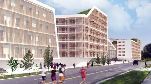 Progetto di ampliamento del campus dell'Università di San Francisco.